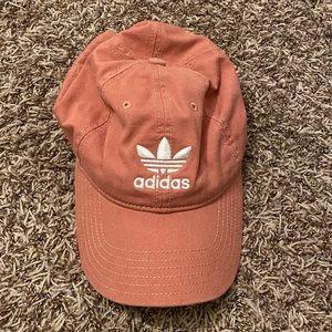 Pink/ coral Adidas hat
